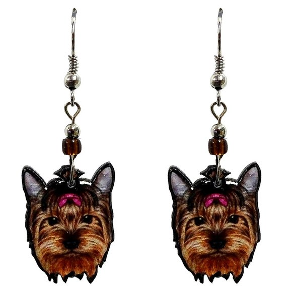 Peru Designs Jewelry - CUTE Yorkie Earrings Handmade Yorkshire Dog Unique